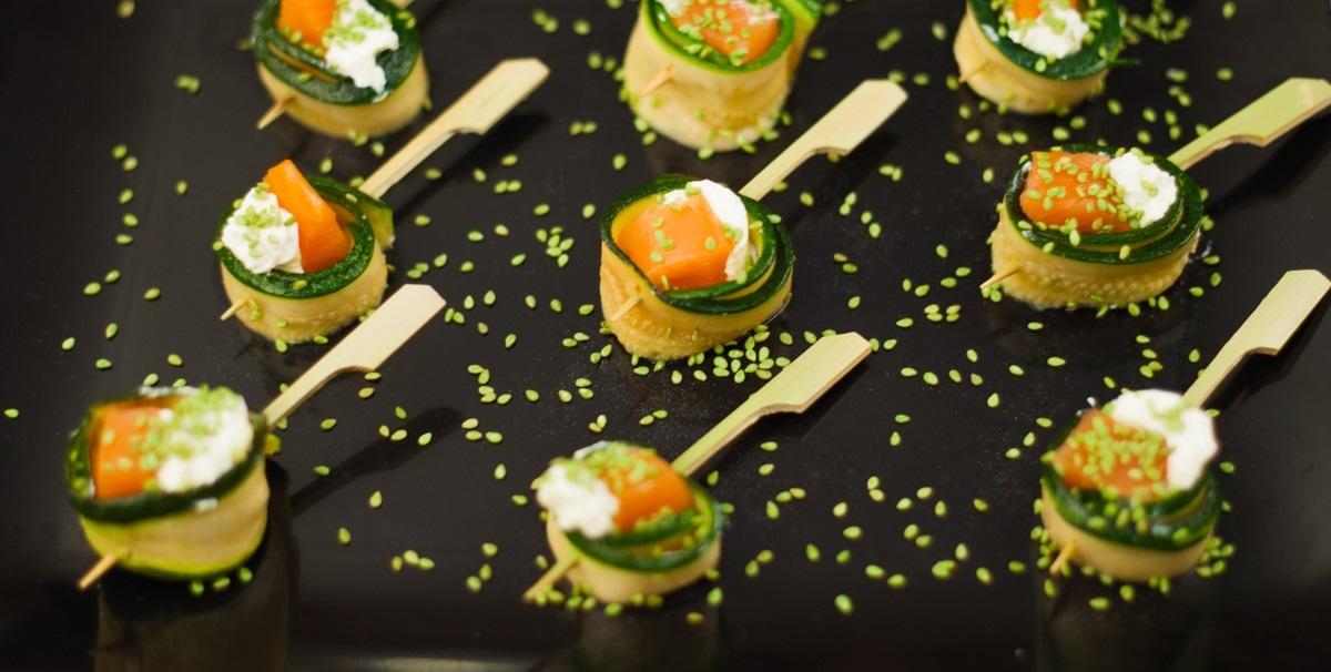 salmon filet zucchini finger food catering traiteur Champs-sur-Marne